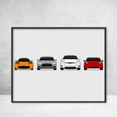 The complete Tesla Motors history captured in one simple yet elegant print. This print includes