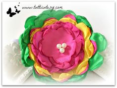 Beautiful Colorful Silk Flower Headband by tutticutesytutus