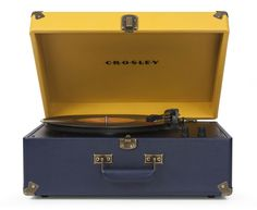 Crosley | Keepsake - Blue/Yellow #crosley #turntable #keepsake #urbanoutfitters