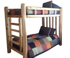 Rustic Cedar Log Bunk Bed Bunkbed EASY ASSEMBLY by MichiganRustics, $585.00
