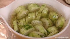 Vegetable Side Dish – Cucumbers In Vinegar