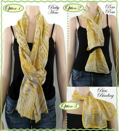 Runway Sewing: PROJECT #3: SILK SCARF IN 3 OPTIONS