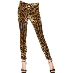 DOLCE & GABBANA Viscose Cady Leopard Trousers (2.165 RON) ❤ liked on Polyvore featuring pants, luisaviaroma, leopard, rayon pants, leopard print pants, zipper trousers, zipper pants and dolce gabbana trousers