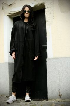 Oversize coat.Extravagant black coat.Black by MIAatelier on Etsy