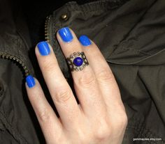 Bronze adjustable lapis lazuli ring Lapis Lazuli by GemmaJolee