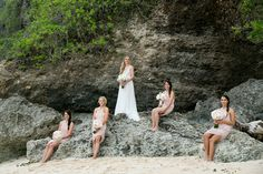 Bride and Bridesmaid by the beach Project by Veli Photography http://www.bridestory.com/veli-photography/projects/jenna-stephen