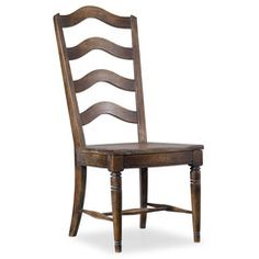 Willow Bend Ladder Back Dining Side Chair, Hooker Furniture, Willow Bend  Collection