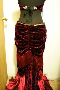 Custom Bespoke Silk Velvet Bustle Belt. $347.76, via Etsy.