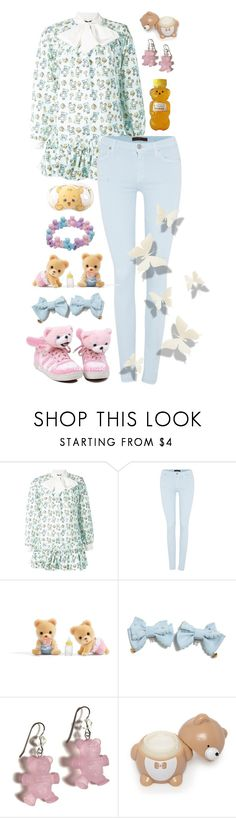 """honey bear"" by baby-x-girl ❤ liked on Polyvore featuring Jeremy Scott, 7 For All Mankind, Tarina Tarantino, Forever 21, Hot Topic and Panda"