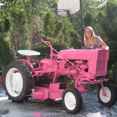 Ok, so my dad and I are restoring this tractor....of course it won't be pink (bleh!) .....buuuuut I am sooooo excited to be doing this with my dad!!!! IH cub lo-boy