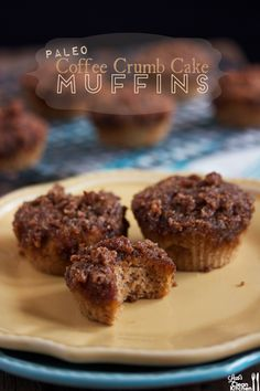 GF/Paleo Coffee Crumb Cake Muffins from Lexi's Clean Kitchen