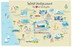 A complete guide to sight-seeing West Hollywood on foot and venturing out to popular LA and Southern California attractions by public transportation.