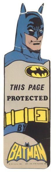 Batman bookmark