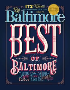 """Alex Perez - Cover illustration for Baltimore Magazine's """"2013 Best of"""" issue."""