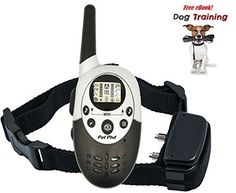 Dog Training Shock Electric e Collar for Dogs with Remote by PetPhD Elite NEW VERSION 30 eCollar for 2017 1100 Yard Rechargeable Water Resistant Safe Humane Vibration BONUS eBook *** Check out this great product.Note:It is affiliate link to Amazon.