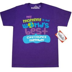 Inktastic City Council Member Gifts For Kids T-Shirt Auditing Clothing Apparel Clothes Occupation Job Cute Mens Adult Tees T-shirts Hws, Size: Small, Purple