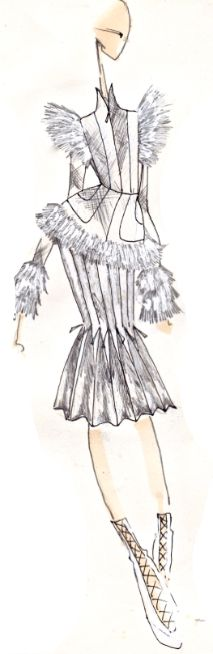 J.Larkowsky Illustration | Alexander McQueen: Fall 2011