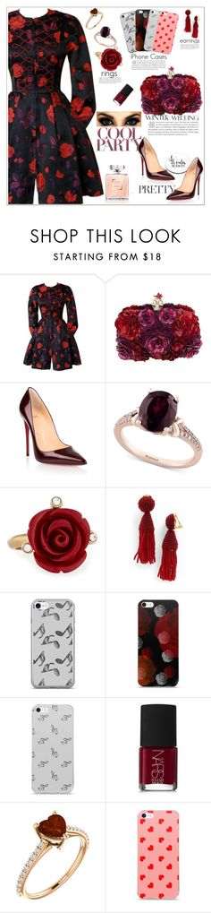 """""""True Romance: Winter Wedding"""" by atelier-briella ❤ liked on Polyvore featuring Christian Lacroix, Alexander McQueen, Christian Louboutin, Effy Jewelry, Oscar de la Renta, Music Notes, NARS Cosmetics, cute, chic and Elegant"""