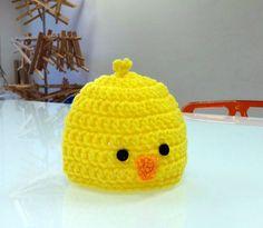 Chick Hat Newborn Crochet Hat Baby Chick Hat by georgeshandmade