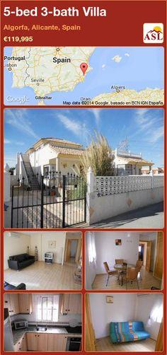 5-bed 3-bath Villa in Algorfa, Alicante, Spain ►€119,995 #PropertyForSaleInSpain