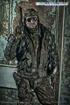 Post Apocalyptic LARP costume made by Mark Cordory Creations www.markcordory.com Photo courtesy & © Roy Smallpage 2015