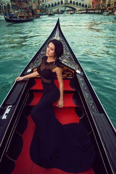 Sexy black dress.