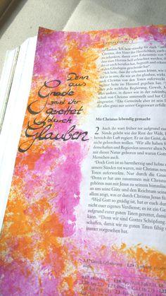 Bible Art Journaling *acryl *deutsch *Eph.2,8 @klsaqui
