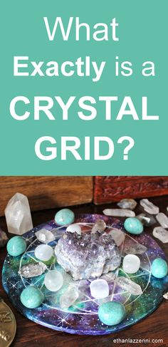 What is a crystal grid? A beginners guide to crystal grids #crystals