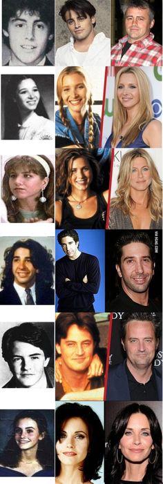 Friends cast, before/then/now