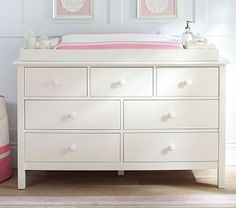 Kendall Extra-Wide Dresser & Changing Table Topper #PotteryBarnKids