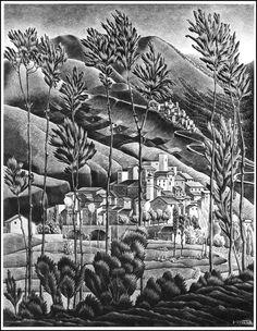 Alfedena by MC Escher, 1929. ~via TI Group, FB