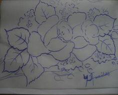 Como Pintar Em Tecido | Pintura em tecido passo a passo Rosas