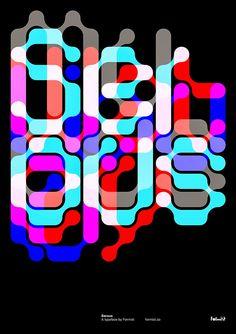 Serous :: An interlocking display typeface by Formist