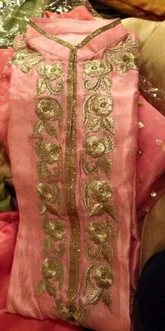 Machine Embroidered Radiant Silk Suit in Peach Color With Dupatta