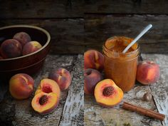 spiced peach butter: super yummy!! Took WAY longer to cook down than an hour, and I only had 10lbs of peaches. 15lbs would not have fit in my giant dutch oven, either...I kept the spices the same and added 1 1/2 C sucanat too.