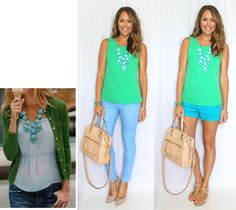 Summer Brights: Green and Blue