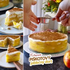 Fit jablečný piškotový dort - recept Bajola Tiramisu, Clean Eating, Food And Drink, Gluten Free, Yummy Food, Treats, Drinks, Healthy, Ethnic Recipes