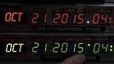 So, today's the day. #BackToTheFuture