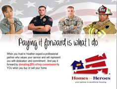 For Homes for Heroes post card for direct mail.