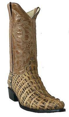a6f268406a Detalles acerca de Para hombres Cuero Cola De Cocodrilo Nuevo Tw Crocodile botas  de vaquero occidental Beige J del dedo del pie- mostrar título original
