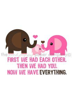 Jetzt haben wir alles 5 x 7 Elefanten Familie von pinkpuppypaperco