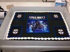Call of duty ghosts cake via Walmart