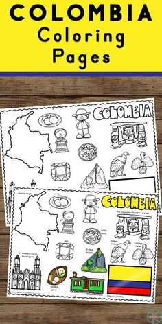 Head along the Amazon River into the South American Rainforest to learn about the beautiful country of Columbia with these free printable Columbia Coloring Pages for preschool, pre k, kindergarten, first grade, 2nd grade, 3rd grade, 4th grade, and 5th grade kids. Social Studies Activities, Educational Activities, Preschool Activities, Geography For Kids, World Geography, Free Worksheets For Kids, Kindergarten Worksheets, Japan For Kids, Columbia Kids