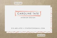 Herringbone Stroke Business Cards by Laura Condouris at minted.com
