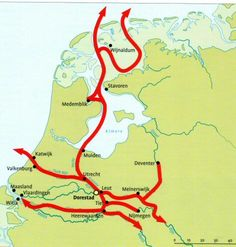Hiking through history of Frisia, Westfriesland, Ostfriesland and Nordfriesland along Wadden Sea and North Sea Holland Map, Netherlands Country, Viking Reenactment, Germanic Tribes, Old Maps, North Sea, Historical Maps, Genealogy, Dna
