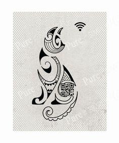 Wi-Fi Password - WiFi Printable -  Wifi Sign - Printable - Digital Art - Cats