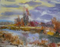 """Shandor Oleksandr """"The Pond"""" - watercolor. http://www.russianfineart.co/catalog/prod.php?productid=18017"""