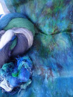 Silk Bloom Scarf Creation Kit Hand Dyed Habotai by HeartFeltSilks