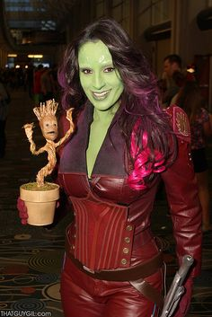 SALT LAKE COMIC CON 2014 - Guardians of the Galaxy - Gamora & Baby Groot