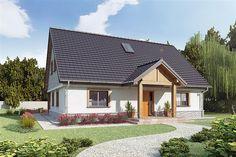 projekt AJR 02 wersja B bez garażu WOJ1022 Home Fashion, Shed, Outdoor Structures, Cabin, House Styles, Outdoor Decor, Projects, Home Decor, Log Projects